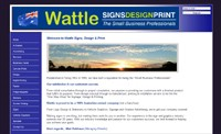 Wattle Signs, Design and Print